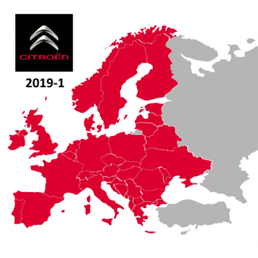 Citroen Full Europe 2019-1 Digital Map eMyWay