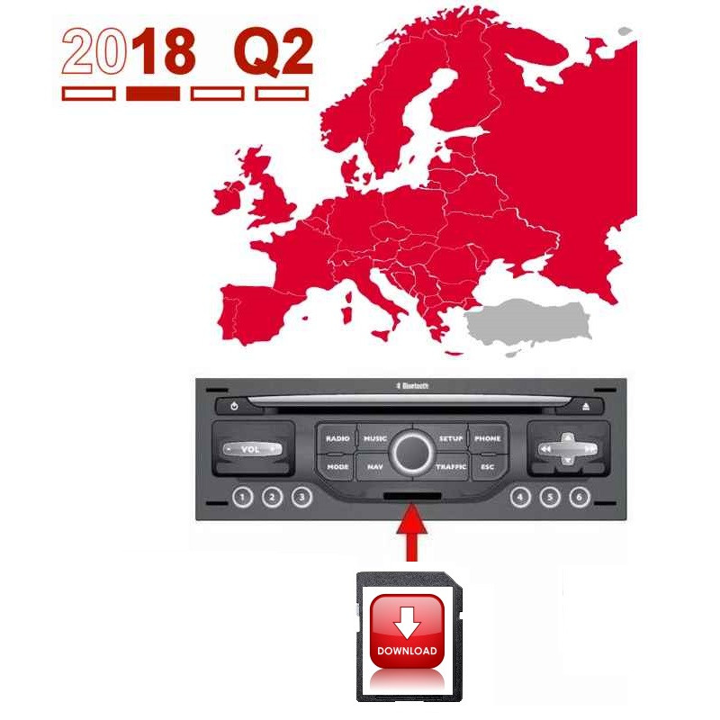 Peugeot Wip Nav / Citroen MyWay Europe 2018-2 navigation map