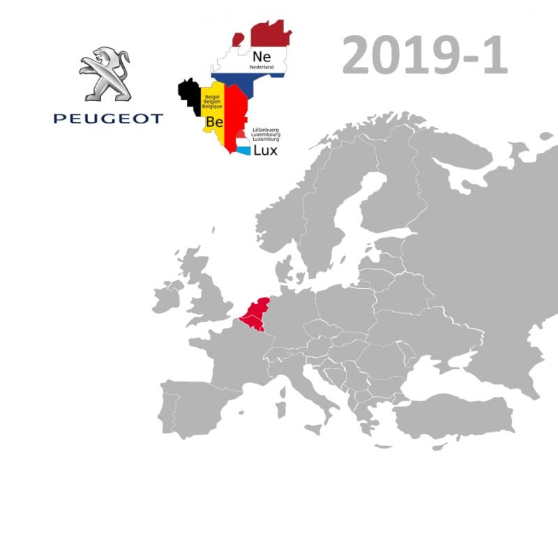Peugeot Benelux Dutch, 2019-1 Digital Map | eMyWay