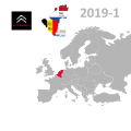 Citroёn Benelux French, 2019-1 Digital Map | eMyWay