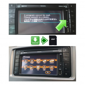 Toyota TNS510: SD card for system restore