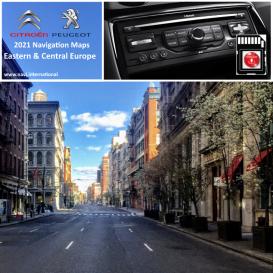 Peugeot / Citroen East & Central Europe 2021 navigation map