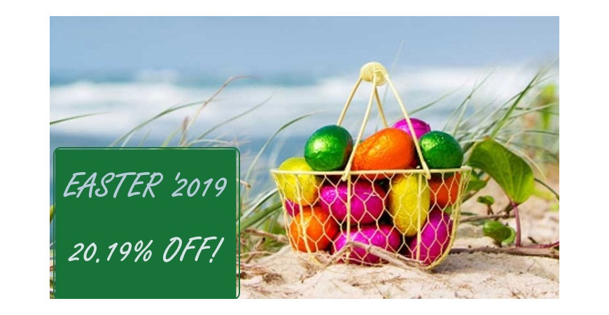 Easter '2019: 20.19% off!